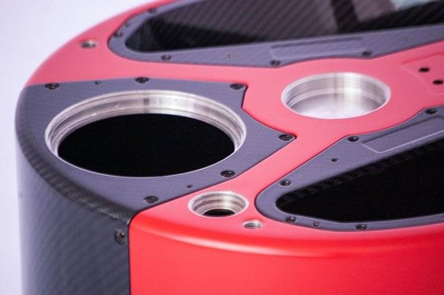 Carbongehäuse für Bauteil in der Vermessungstechnik